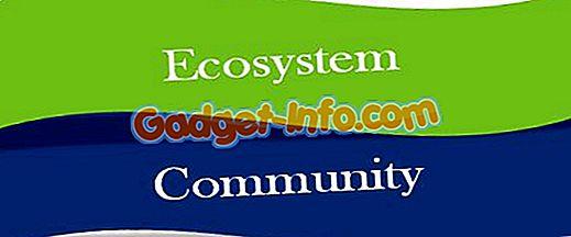 Forskel mellem økosystem og samfund
