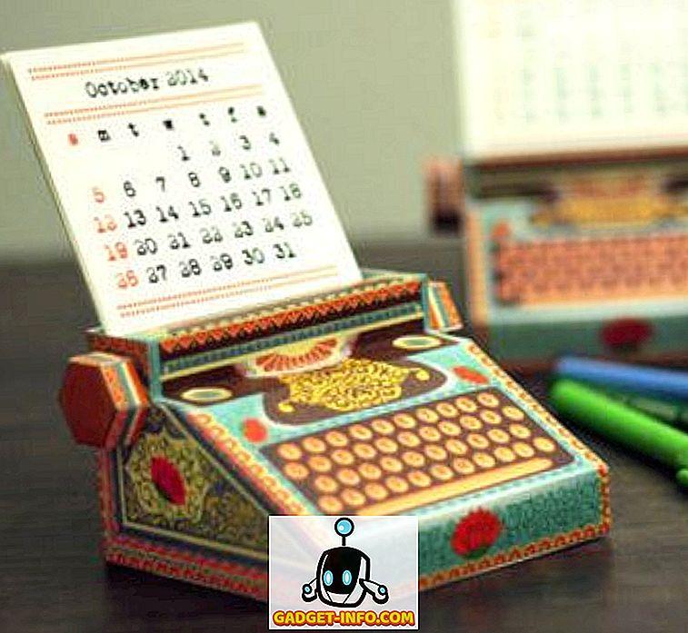 5 krásne ručne vytlačené kalendáre pre rok 2014