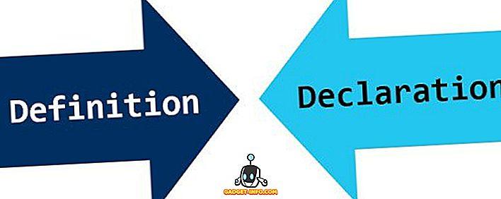 Разлика между дефиниция и декларация
