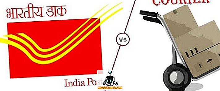 rozdiel medzi - Rozdiel medzi Speed Post a Courier