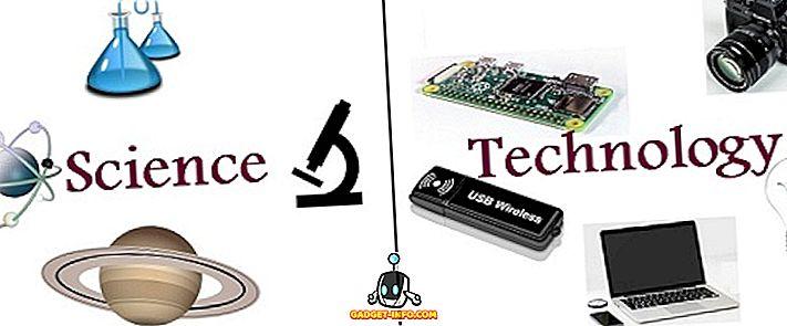 के बीच अंतर - विज्ञान और प्रौद्योगिकी के बीच अंतर