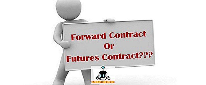 Diferența dintre contractul forward și contractele futures