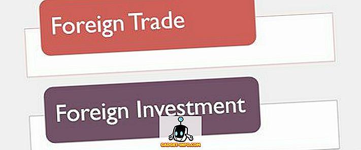 Väliskaubanduse ja välisinvesteeringute erinevus - vahe - 2019