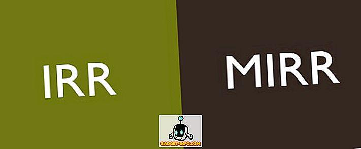 Unterschied zwischen: Unterschied zwischen IRR und MIRR