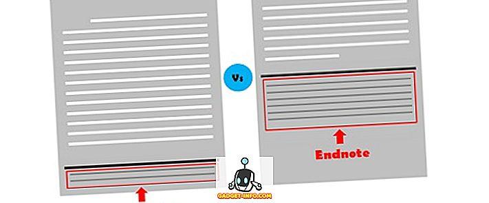 Perbezaan Antara Nota Kaki dan Endnote