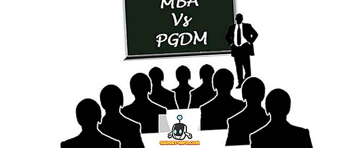 ความแตกต่างระหว่าง MBA และ PGDM