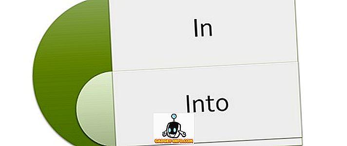 """Skirtumas tarp """"In"""" ir """"Into"""""""