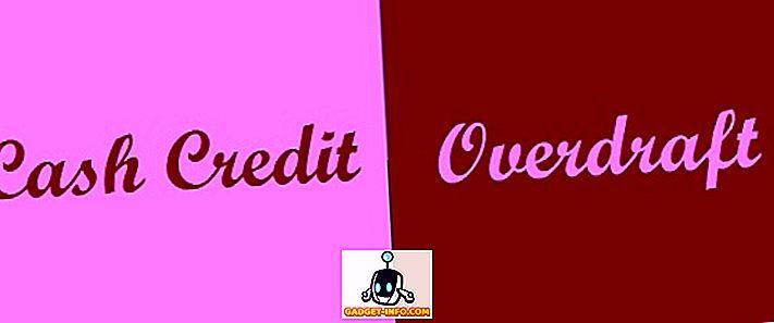 razlika med: Razlika med gotovinskim kreditom (CC) in prekoračitvijo (OD)