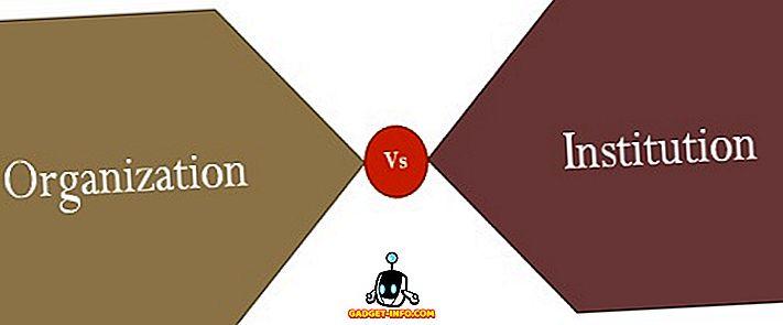 Diferencia entre organización e institución