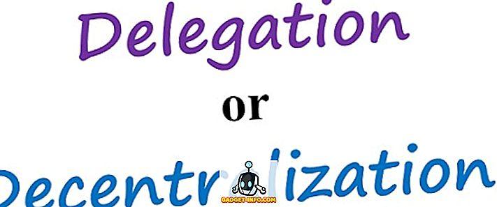 Unterschied zwischen - Unterschied zwischen Delegation und Dezentralisierung