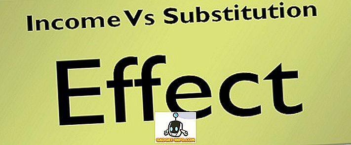 vahe: Erinevus tulude ja asendamise mõju vahel