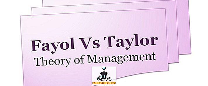 फैयोल और टेलर के सिद्धांतों के बीच अंतर
