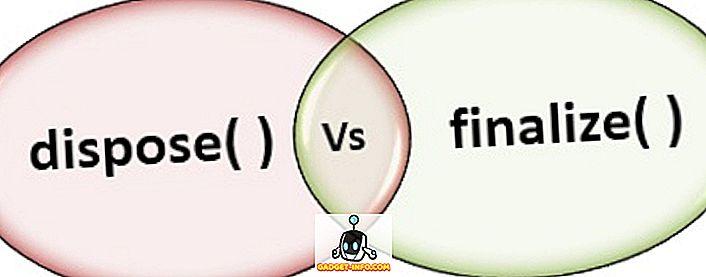 vahe - Erinevus kõrvaldamise () ja lõpliku () vahel C #