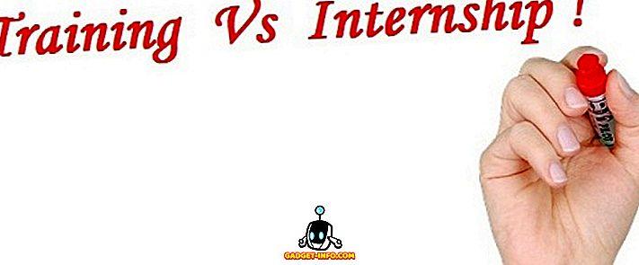 차이점 - 훈련과 인턴쉽의 차이점