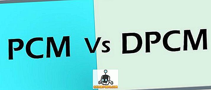 Starpība starp PCM un DPCM