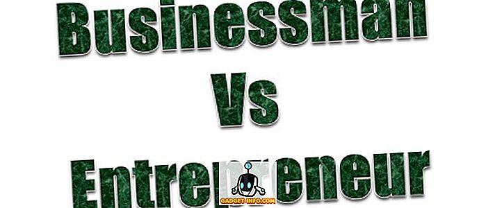 Forskel mellem forretningsmand og iværksætter