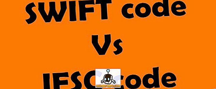 Skirtumas tarp SWIFT kodo ir IFSC kodo