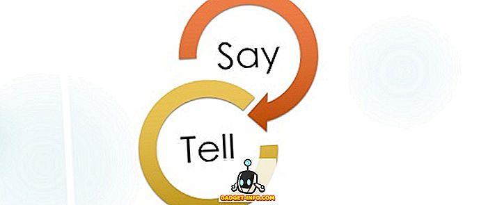 Różnica między mówieniem a mówieniem