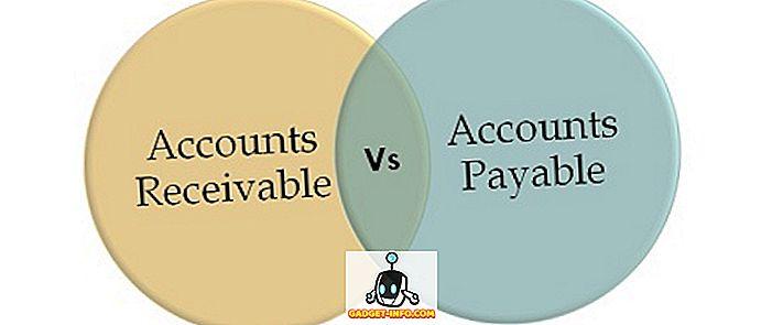 Diferença entre contas a receber e contas a pagar