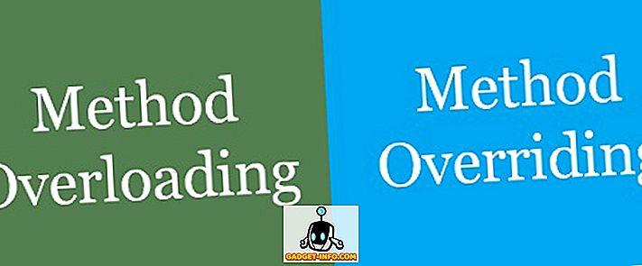 के बीच अंतर - ओवरलोडिंग और ओवरराइडिंग विधि के बीच अंतर