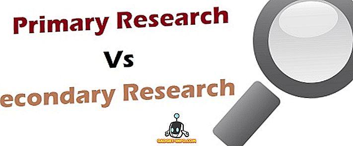 الفرق بين البحث الابتدائي والثانوي