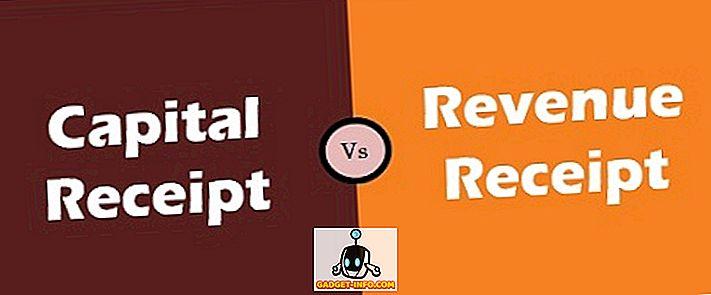 Diferencia entre el recibo de capital y el recibo de ingresos