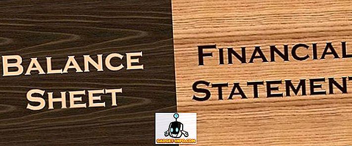 Разлика между баланса и финансовия отчет