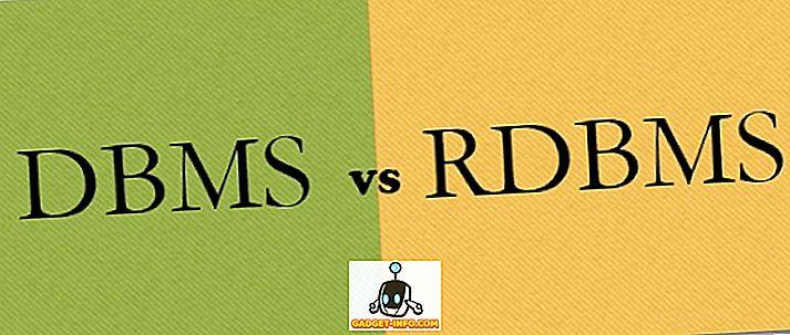 Forskjellen mellom DBMS og RDBMS