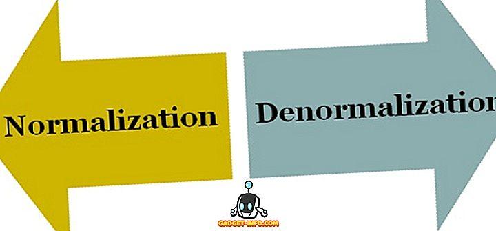 Forskjellen mellom normalisering og denormalisering