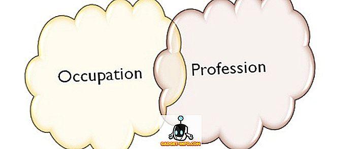 Разлика между професия и професия