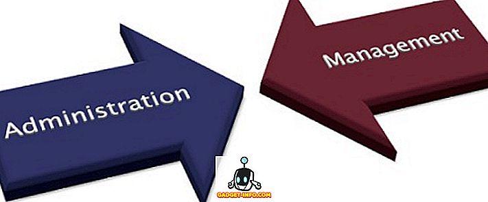 Atšķirība starp vadību un administrāciju