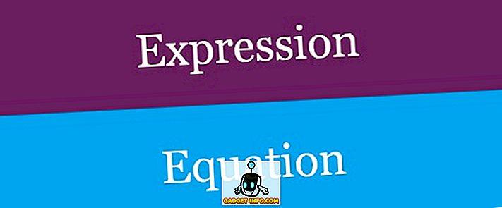 Forskel mellem ekspression og ligning