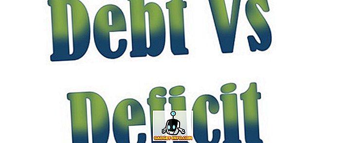 Différence entre déficit et dette