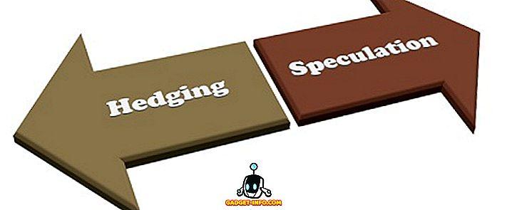 Diferența dintre hedging și speculații
