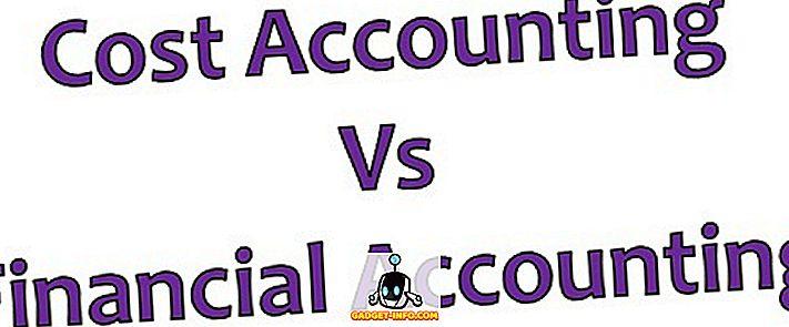 Razlika med stroškovnim računovodstvom in finančnim računovodstvom