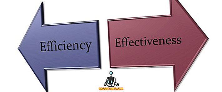 الفرق بين الكفاءة والفعالية