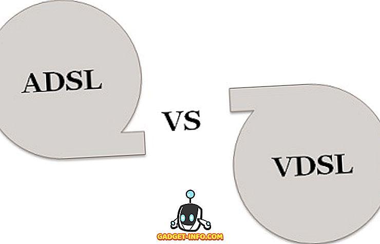 razlika između: Razlika između ADSL-a i VDSL-a