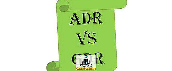 Erinevus ADRi ja GDR vahel