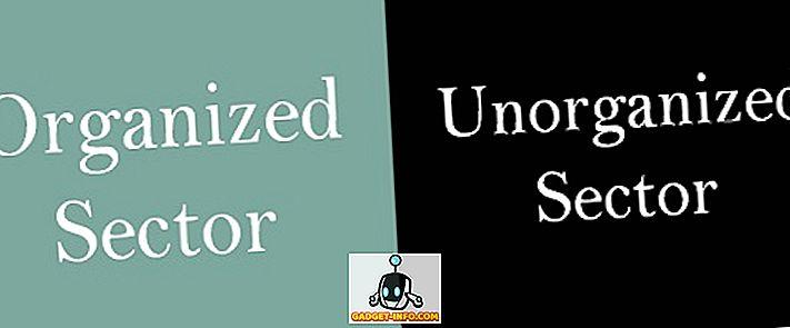 Organiseeritud ja organiseerimata sektori erinevus