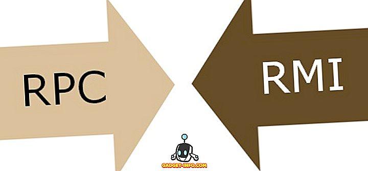 Erinevus RPC ja RMI vahel