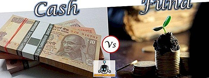 Différence entre les espèces et les fonds