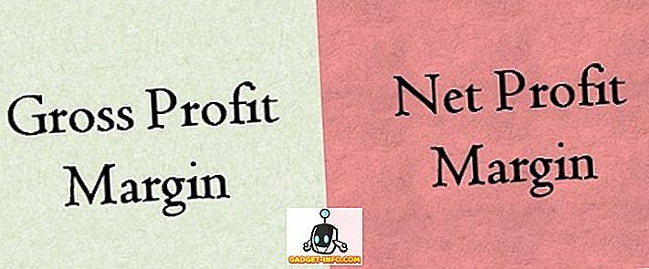 Unterschied zwischen: Differenz zwischen Bruttogewinnmarge und Nettogewinnmarge
