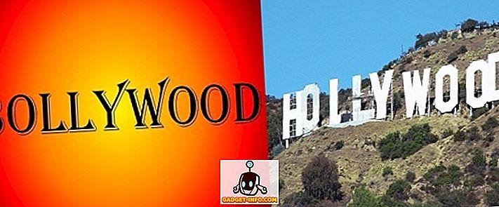 Unterschied zwischen Bollywood und Hollywood