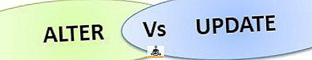 के बीच अंतर - SQL में ALTER और UPDATE कमांड के बीच अंतर