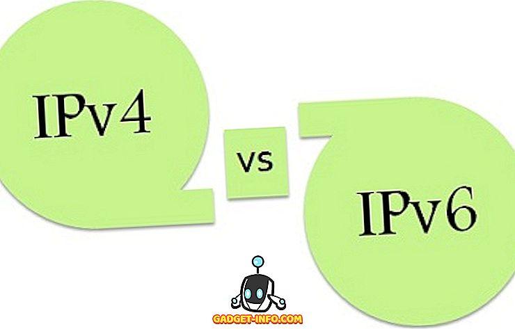 verschil tussen: Verschil tussen IPv4 en IPv6