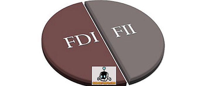 Sự khác biệt giữa FDI và FII