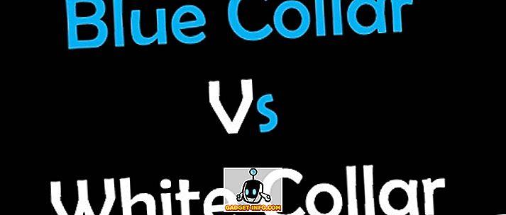 forskel mellem: Forskel mellem blå krave og hvid krave