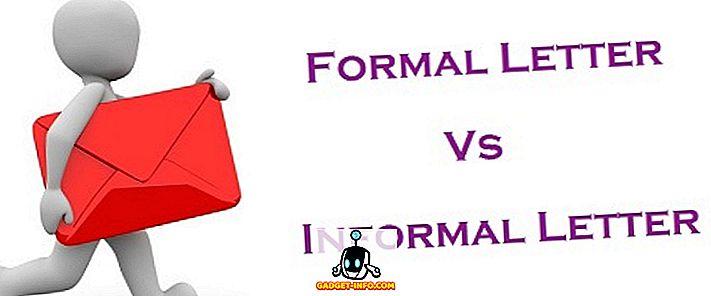Forskel mellem formelle og uformelle brev