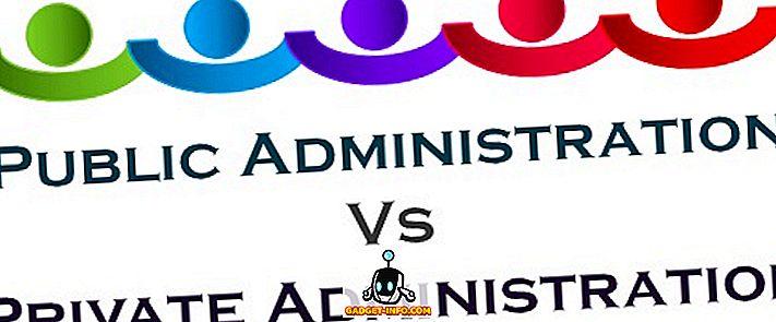 الفرق بين الإدارة العامة والخاصة
