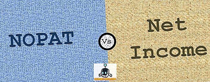 Unterschied zwischen: Unterschied zwischen NOPAT und Nettoeinkommen